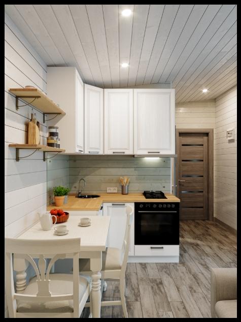 Bijhuizen huisjes chalet keuken staand